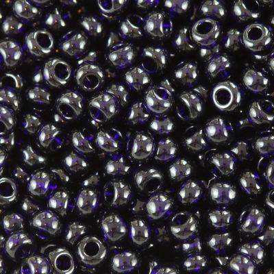 Koraliki Preciosa Rocaille transparent dark blue 2.1 mm / koraliki drobne