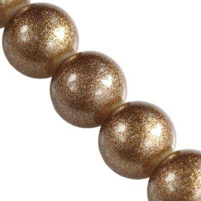 koraliki Gold Powder Metallic capuccino 10 mm