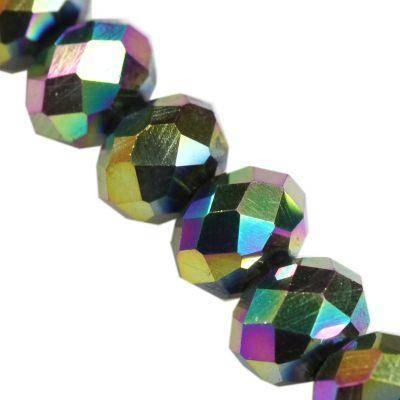 Crystaline rondelle arc-en-3 x 4 mm / perles de cristal