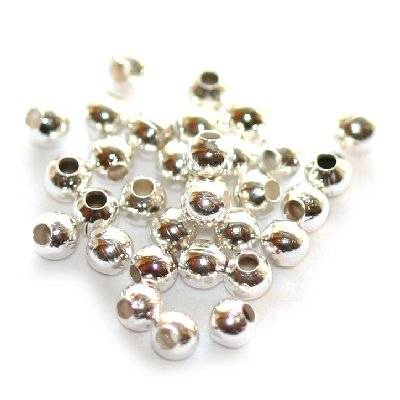 beads 2 mm silver color jewellery findings