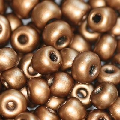 glass seed beads mocha 3.5 mm