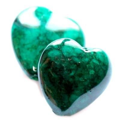 corazones mármol esmeralda 12 mm