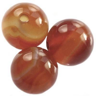 sardonyx red beads 10 mm / semi-precious stone
