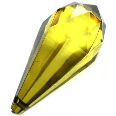 plastic teardrop olive 22 x 47 mm