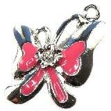 pendentifs charms cocarde 27 x 24 mm