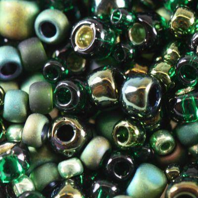 perline Toho mix bonsai- green/black mix TX-01-3209