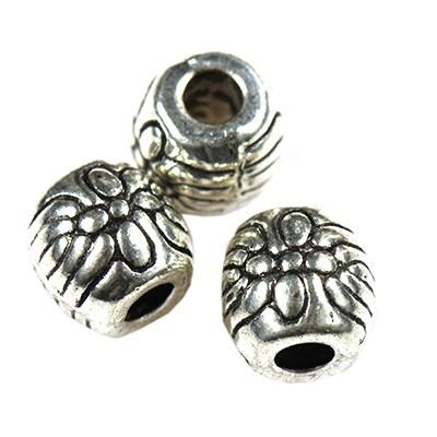 perles de bugle en métal 5.9 x 6 mm
