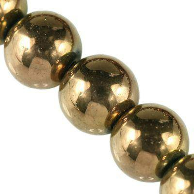 Bubble Perles bronze AB 10 mm