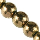 round Bubble Beads AB bronze 10 mm