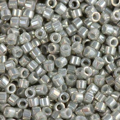 Miyuki Delica beads opaque gold luster grey 1.6 x 1.3 mm DB-0251