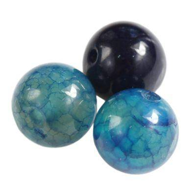 kule lodowy spękany agat lazurowy 6 mm kamień półszlachetny naturalny barwiony
