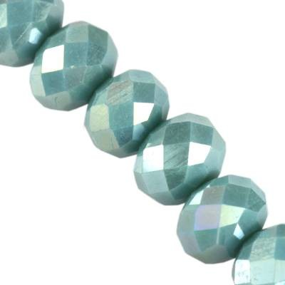 Kryształki CrystaLine rondelle teal AB 6 x 8 mm