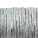 sznurek sutasz Rayon USA 2.5 mm metallic ant silver