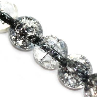 crackle beads black color inside 10 mm