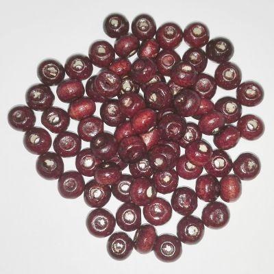 round wooden beads 5 x 6 mm