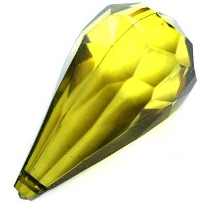 plastic teardrop olive 26 x 50 mm