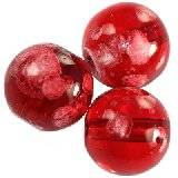 glass beads galactic transparent cherry 12 mm