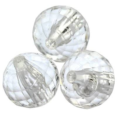 faceted transparent round beads 12 mm