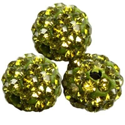 fimo round caramballa rhinestones emerald 8 mm