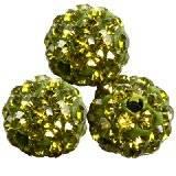 abalorios fimo bolas caramballa cristales esmeralda 8 mm