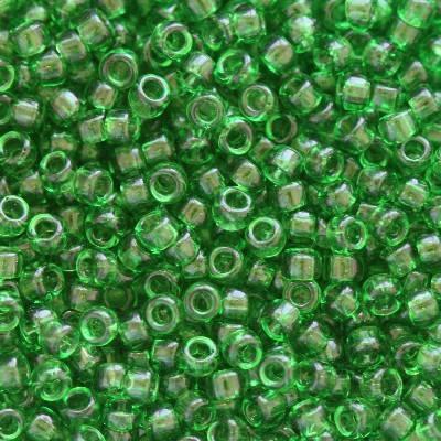 Toho beads round transparent grass green 1.6 mm TR-15-7B