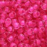 Toho beads round inside-color matte crystal/neon pink lin 2.2 mm TR-11-971