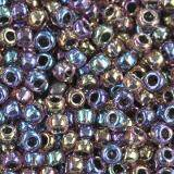 Toho beads round inside-color luster lt amethyst/jet-line 2.2 mm TR-11-251