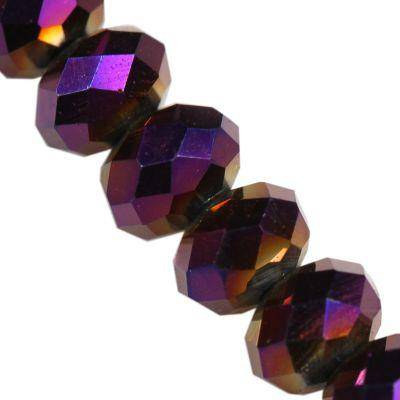 CrystaLine rondelle μωβ χάντρες 3 χ 4 mm / κρύσταλλο / crystal beads