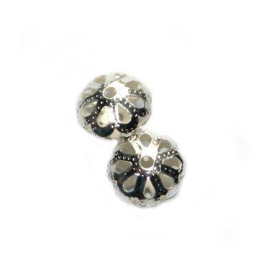 floral hollow bead 8/5 mm