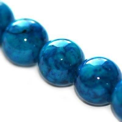 kule marmur lazurowy 10 mm kamień naturalny barwiony