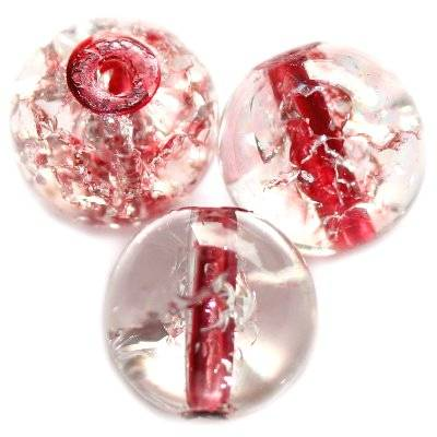 crackle beads beads red color inside 12 mm