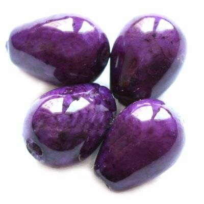 färgad marmor pärlor tedroppad ametist 5 x 7 mm
