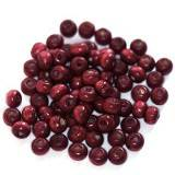 round wooden beads burgundy 5 x 6 mm
