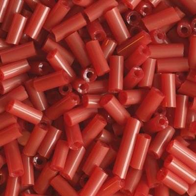 glass beads tubes dark red 4.5 mm
