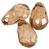 larmes en plastique brunes 18 mm