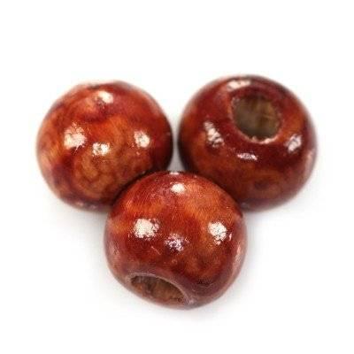 perles rondes en bois plantes grimpantes 10 mm