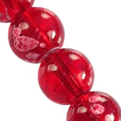glass beads galactic transparent cherry 14 mm
