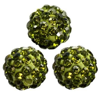 perles émeraude fimo boules caramballa cristaux 10 mm