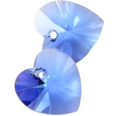 Swarovski heart pendants sapphire 14.4 x 14.0 mm