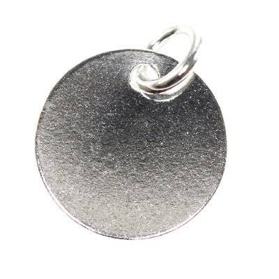 sterling silver 925 pendant simple medallion