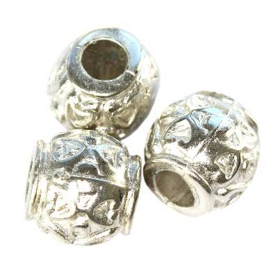 vase silver plastic beads 8 mm