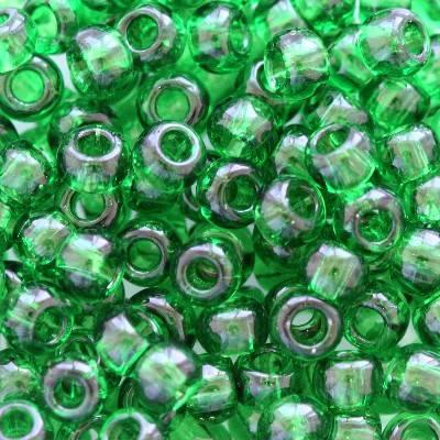 Toho beads round transparent grass green 3 mm TR-08-7B