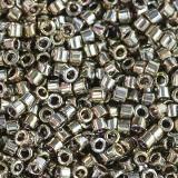 Miyuki Delica galvanized tarnished silver 1.6 x 1.3 mm DB-0254