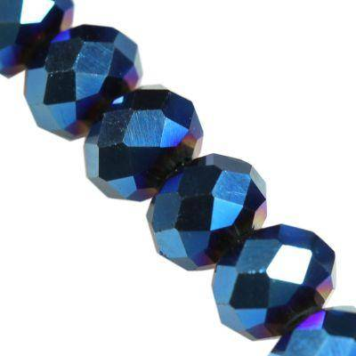 CrystaLine rondelle μπλε χάντρες 3 χ 4 mm / κρύσταλλο / crystal beads