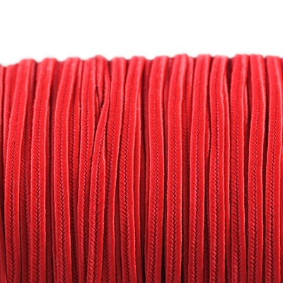 Rayon soutache cord 2.5 mm red