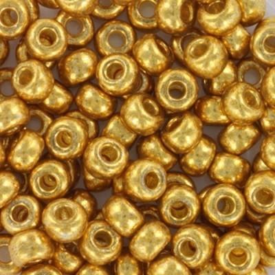 Perles Miyuki round duracoat galvanized gold 6/0 #6-4202