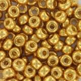 Miyuki round Perlen duracoat galvanized gold 6/0 #6-4202