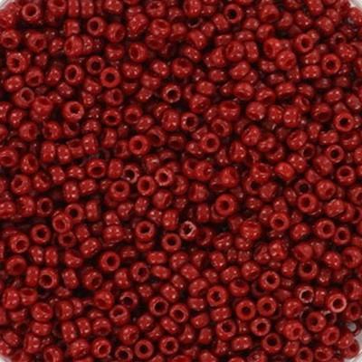 Miyuki round siemenhelmi duracoat opaque jujube 15/0 #15-4469
