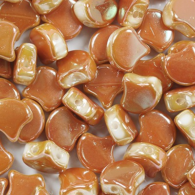 Ginko beads full apricot 7.5 mm