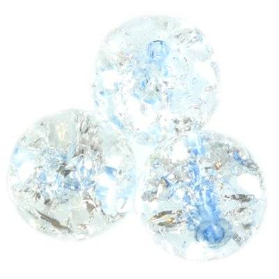 crackle beads beads blue color inside 12 mm